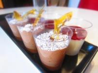 chocolate mousse/ pannacotta