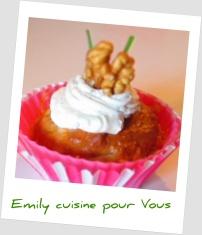 cupcake poire, roquefort, noix
