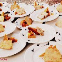 Foie gras maison, pain d'épice et pommes en millefeuille