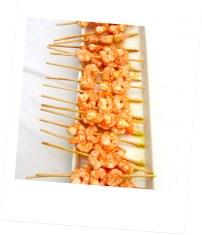 brochette de crevettes